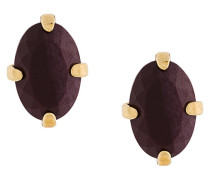 Curiosities red jasper stud earrings