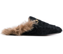 Princetown fur slippers