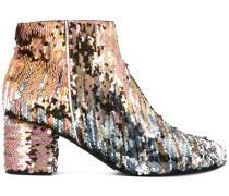 sequins embellished ankle length boots - Unavailable