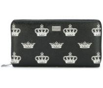 crown print continental wallet
