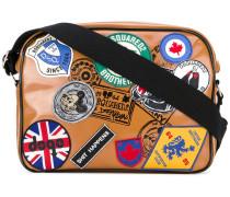 patch appliqué postman bag - men