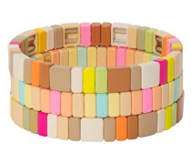 'Neons and Neutrals' Armbänder-Set