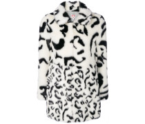 Lassie animal print faux fur coat