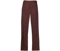 A.P.C. Cropped-Hose mit Leopardenmuster
