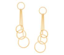 rod and hoop drop earrings