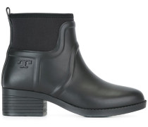 embossed logo ankle boots