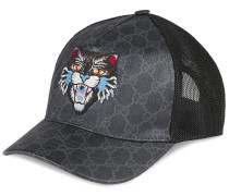 GG Supreme baseball hat with Angry Cat