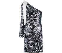 Schulterfreies Kleid mit Paillettenstickerei