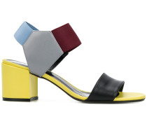 block colour sandals