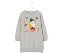 Bashful appliquéd sweatshirt dress