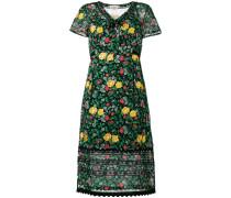 floral print semi-sheer dress - women