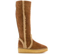 knee high textured boots