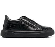 Sneakers mit Kroko-Optik