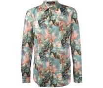 Hemd mit floralem Print - men - Baumwolle - 40