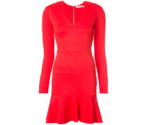 peplum hem mini dress