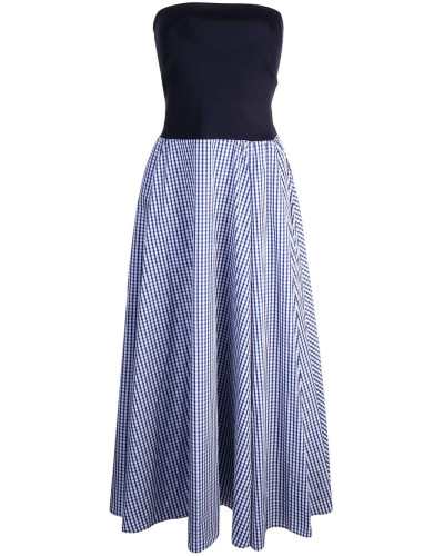 bandeau with gingham dress