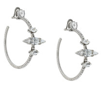 Crystal Oversized Clip-In Hoops
