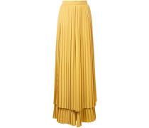 Gestufte Hose mit plissiertem Design