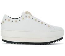 platform studded sneakers