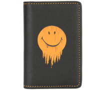 Kartenetui mit Smiley-Print - men - Leder