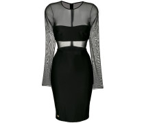Kurzes Kleid mit semi-transparentem Einsatz