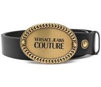 embossed logo buckle belt