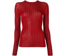 - Pullover mit transparenten Streifen - women