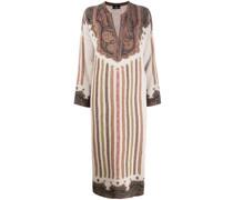 knitted paisley midi dress