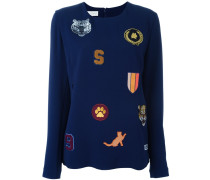 cat patches jersey top