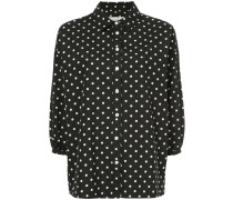 Pillbox polka-dot blouse