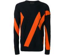 diagonal ribbed jumper