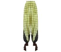 - high-waisted trousers - women - Seide - M