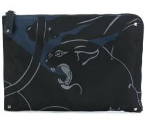 Clutch mit Panther-Print