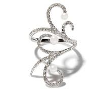 18kt 'Lucy' Weißgoldring mit Diamanten