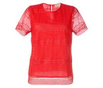 T-Shirt mit Lochstickerei