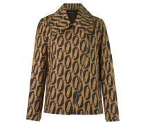 abstract print blazer