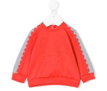 scalloped sweatshirt