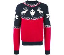 reindeer intarsia knit - men