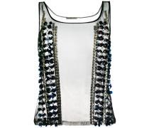 - studded detail top - women - Nylon - 40