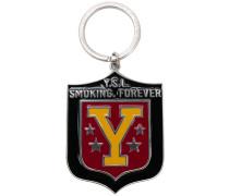 YSL shield keyring