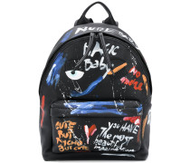 backpack with paint effect graphics