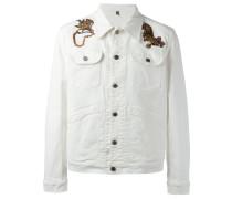 Bestickte 'Tiki Tiger' Jeansjacke