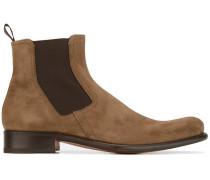 Chelsea-Boots mit eckigem Stretcheinsatz