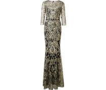 Langes Brokat-Kleid