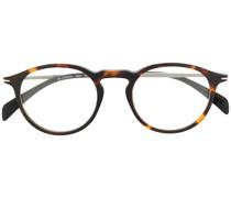 Brille mit getönten Clip-On-Gläsern