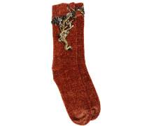 Bestickte Chenille-Socken