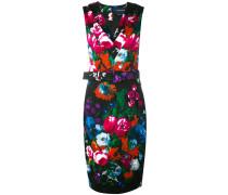 Tailliertes Kleid mit Blumen-Print - women