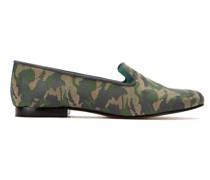 Jacquard-Loafer aus Leder