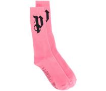Intarsien-Socken mit Initiale