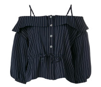 Schulterfreie Bluse mit Streifen